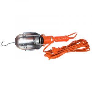 переноска LUX ПР-60-05  5 м оранж. 60Вт Е27 мет.кожух