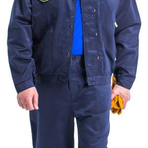 """Костюм """"Докер-1"""" ,цв.т.син/ж.кант, летний,куртка,брюки,р- (размер 48-50/5-6)"""