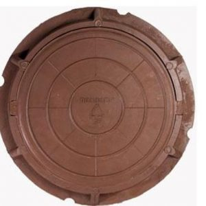 люк малый садовый коричневый д-460 мм