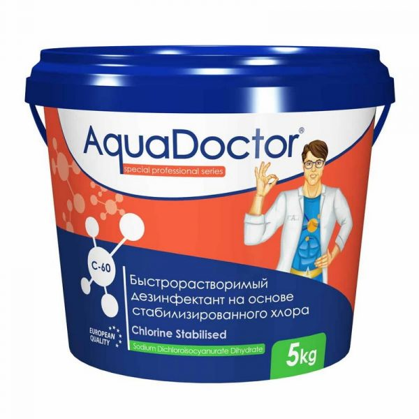 AquaDoctor C-60 хлор-шок 1 кг