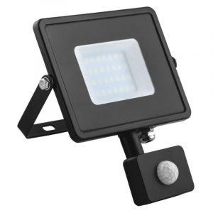 прожектор с/д Ферон LL907 30W 6400K IP44 черн с датч.