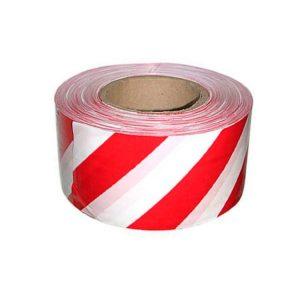лента сигнальная 50мм х 100м красно-белая