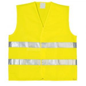 """Жилет """"ДРАГЕР-Юг"""" сетка желт. 2гор.полос.лип (размер 48-50)"""