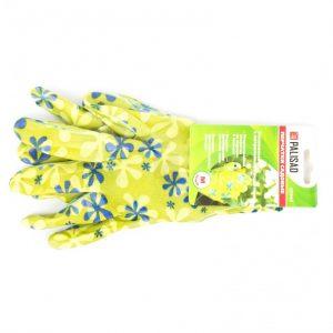 перчатки Палисад садовые с обливом M зелен.