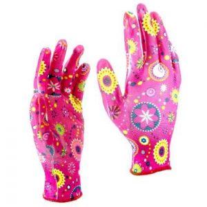 перчатки Палисад садовые с обливом M красн.