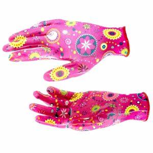 перчатки Палисад садовые с обливом L красн.