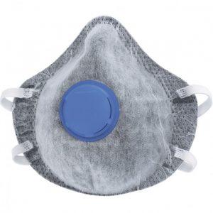 респиратор СИБРТЕХ c угольным слоем, с клап. выдоха, FFP1 (1ШТ)