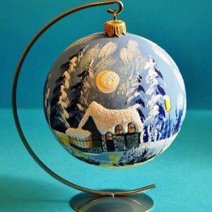 Рождественская декор. шар на подст.