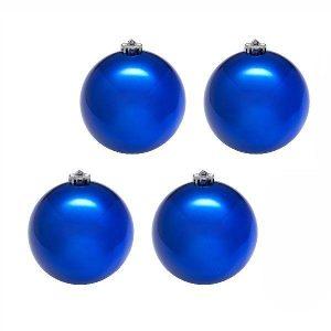 Набор шаров 8 см, 4 штуки, синий