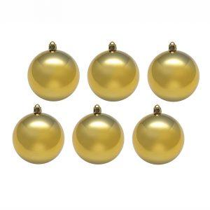 Набор шаров 8 см (6 штук) золотой