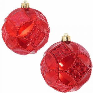 Рождественская декор. (Набор шаров 2 шт. 10 см)