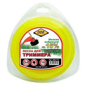 "леска DDE ""Classic line"" (круг) 2,0 мм х 15 м, желтый"
