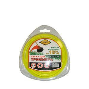 "леска DDE ""Classic line"" (круг) 2,4 мм х 15 м, желтый"