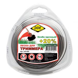 """леска DDE """"Hard line"""" (круг армир) 2,0 мм серый/крас"""