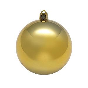 Рождественский шар 20 см, золото