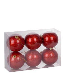 Набор шаров 6 см (6 штук). упак. в прозр. прямоуг. коробку