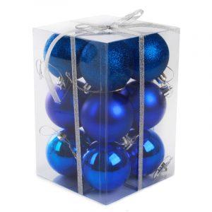 Набор шаров 10 см ( 6 шт), синий