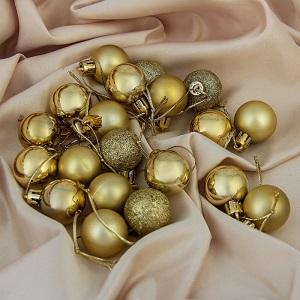 Набор шаров 10 см (20 штук) золото