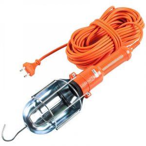 переноска LUX ПР-60-15 15 м оранж. 60Вт Е27 мет.кожух