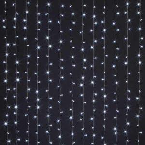 занавес световой ( водопад) 2x3м, 220В, шнур прозр. цв., 320 тепл.бел. ламп, IP20