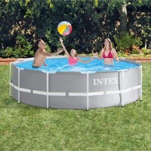 бассейн Каркасный круглый 366х99 см, 8600 л, Intex Metal frame с картр. насосом, арт. 26716NP