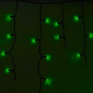 гирлянда Neon-Night Айсикл (бахрома) 255-224 зелёная 4*6 м