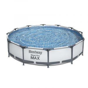 бассейн Каркасный Steel Pro 3,66x0,76м, 6473л, фильтр-насос, Bestway, арт. 56416