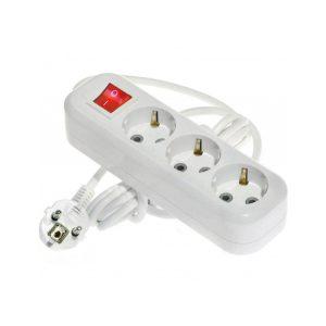 удлин. LUX У3-ЕВК-02 2м/3гн з/к 16А с выкл.