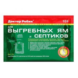 Доктор Робик средство д/септиков и ям 75 гр