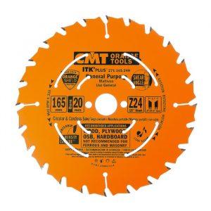 диск пильный CMT 165*20(+15.87)*1,7/1,1 Z 24 ATB SHEAR