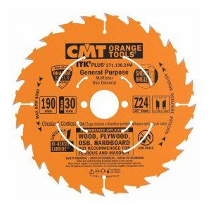 диск пильный CMT 190*30(+20+16)*1,7/1,1 Z 24 ATB SHEAR
