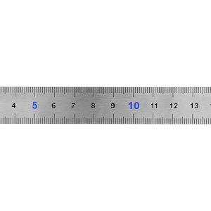 Линейка КОБАЛЬТ  150 × 19 × 0.7 мм, нерж.сталь