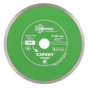 диск алм. Trio Diamond сплош. Эксперт Гранит hot press 200x8/25,4-1.85мм